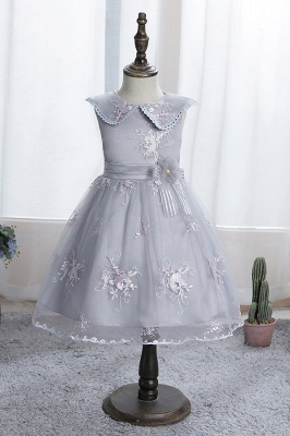 Blue flower girl dresses short | Dresses for flower children_3