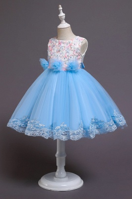 Beautiful blue flower girl dresses | Children's dresses cheap_7