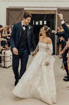 Beautiful wedding dresses with sleeves | Wedding dresses lace_1