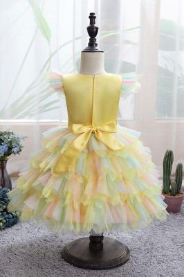 Yellow children's dresses for wedding | Flower girl dresses cheap_5
