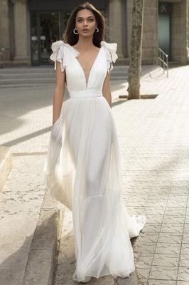 Schlichtes Hochzeitskleid | Creame Brautkleider Günstig_1