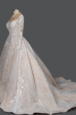 Extravagant wedding dresses with sleeves | Lace wedding dresses princess_3