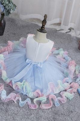 Schicke Blumenmädchenkleider Blau | Kinder Hochzeitskleider Günstig_6