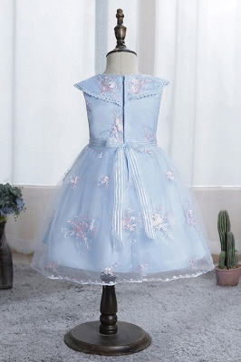 Blue flower girl dresses short | Dresses for flower children_7