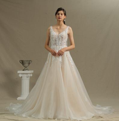 Wunderschöne Hochzeitskleider Mit Spitze | Brautkleid A Linie_2