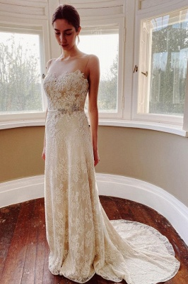 Simple wedding dress mermaid lace | Wedding dresses cheap_1