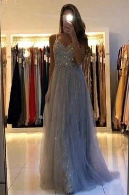 Evening dresses long glitter | Cheap prom dresses with lace_1