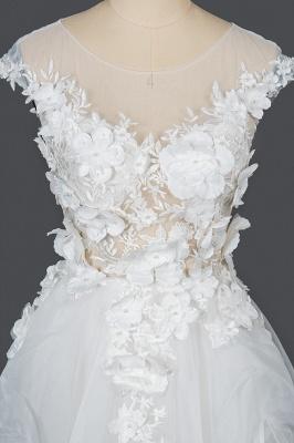 Wunderschöne Hochzeitskleider A Linie | Brautkleider Tüll Günstig_7