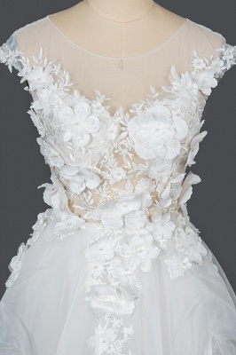 Gorgeous wedding dresses A line | Cheap tulle wedding dresses_7
