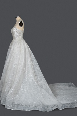 Extravagant wedding dresses glitter | Wedding dresses A line_3