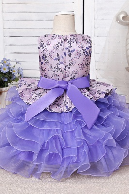 Purpur Kinder Kleider für Blumenmädchen | Blumenmädchenkleider Günstig_6