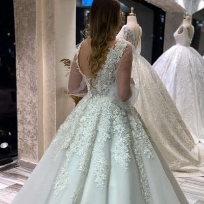 Brautkleider Mit Ärmel | Hochzeitskleider Spitze Große Größe_3