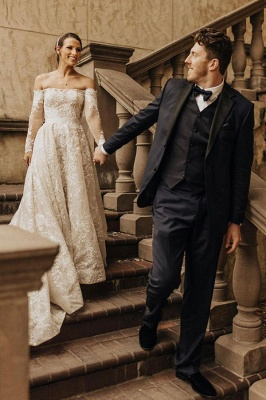 Beautiful wedding dresses with sleeves | Wedding dresses lace_4