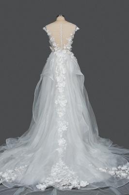 Gorgeous wedding dresses A line | Cheap tulle wedding dresses_2