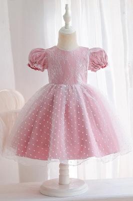 Süßige Blumenmädchenkleider Rosa | Kinder Hochzeitskleider_2