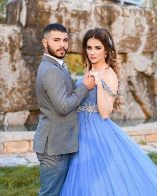 Blue Evening Dress Long Cheap | Evening wear online_4