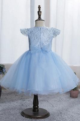 Simple flower girl dress blue | Children's dresses for flower girls_7