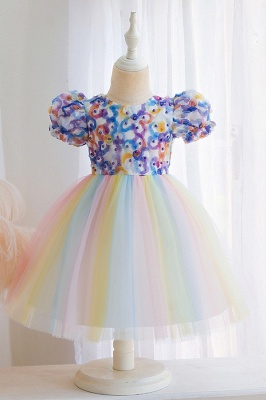 Beautiful flower girl dresses cheap | Tulle kids wedding dresses