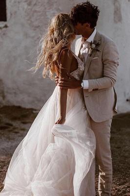 Schlichtes Hochzeitskleid mit Spitze | Brautkleid A Linie_4
