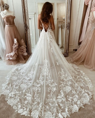 Simple wedding dresses lace | Wedding dresses A line cheap_2