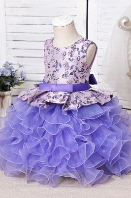 Purpur Kinder Kleider für Blumenmädchen | Blumenmädchenkleider Günstig_7