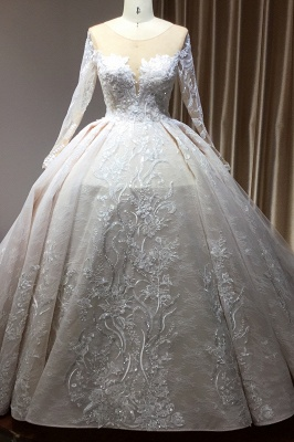 Extravagant wedding dresses with sleeves | Lace wedding dresses princess