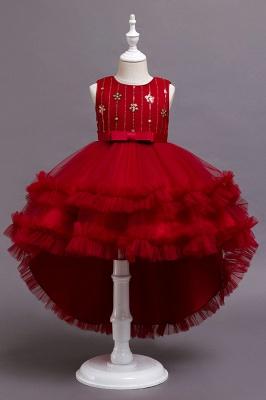 Prinzessin Blumenmädchenkleider Rot | Kinder Kleider zur Hochzeit_2