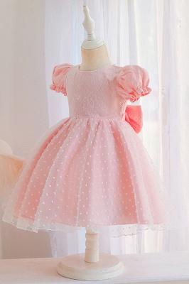 Süßige Blumenmädchenkleider Rosa | Kinder Hochzeitskleider_7