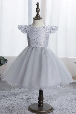 Simple flower girl dress blue | Children's dresses for flower girls_4