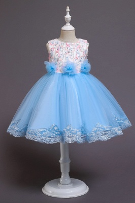 Beautiful blue flower girl dresses | Children's dresses cheap_3