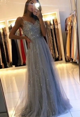 Evening dresses long glitter | Cheap prom dresses with lace_2