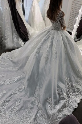 Elegant wedding dresses with sleeves | Wedding dresses princess_3