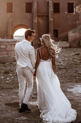Schlichtes Hochzeitskleid mit Spitze | Brautkleid A Linie_2