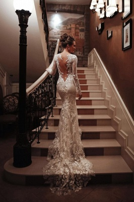 Wedding dresses mermaid lace | Wedding dresses with sleeves_5