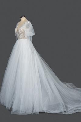 Designer Hochzeitskleider A Linie | Brautkleider Mit Ärmel_3