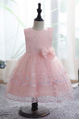 Weiße Blumenmädchenkleider Günstig | Tüll Kinder Hochzeitskleider_2