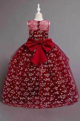Weinrot Blumenmädchenkleider Günstig | Kinder Hochzeitskleider_7