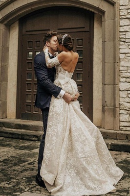 Beautiful wedding dresses with sleeves | Wedding dresses lace_2