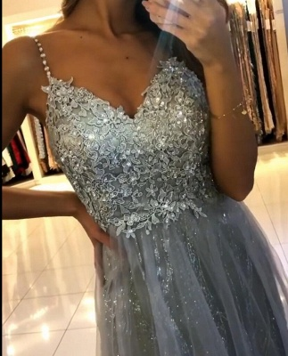 Evening dresses long glitter | Cheap prom dresses with lace_6