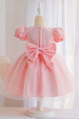 Süßige Blumenmädchenkleider Rosa | Kinder Hochzeitskleider_6