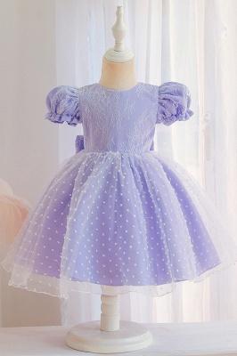 Süßige Blumenmädchenkleider Rosa | Kinder Hochzeitskleider_4