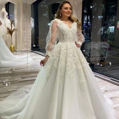 Brautkleider Mit Ärmel | Hochzeitskleider Spitze Große Größe_2