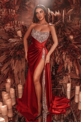 Red Long Glitter Prom Dresses | Buy evening wear online_1