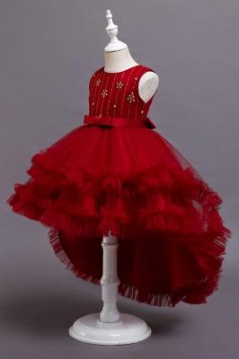 Prinzessin Blumenmädchenkleider Rot | Kinder Kleider zur Hochzeit_7