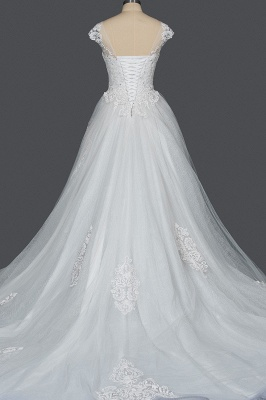 Simple wedding dress A line | Wedding dresses with lace_7