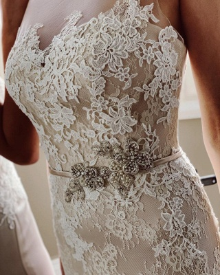 Simple wedding dress mermaid lace | Wedding dresses cheap_5