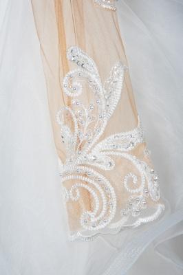 Elegante Brautkleider Mit Ärmel | Hochzeitskleid A Linie_7