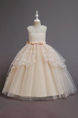 Weinrot Blumenmädchenkleider Günstig | Kinder Hochzeitskleider_3