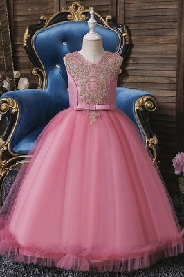 Pink Flower Girl Dresses Cheap | Flower children dresses online_1