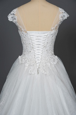 Simple wedding dress A line | Wedding dresses with lace_4